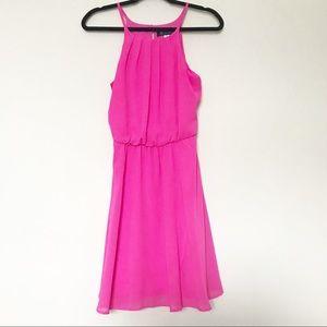 NWT Blue Rain - Hot Pink Key Hole Back Dress